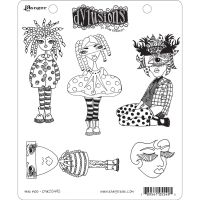Ranger Dyan Reaveley''s Dylusions Stamp Collection - Mini Moo