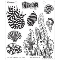 Ranger Dyan Reaveley''s Dylusions Cling Stamp - She Sells Sea Shells