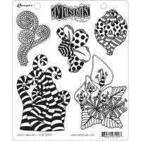 Ranger Dyan Reaveley''s Dylusions Cling Stamp - Stripy Curlicues