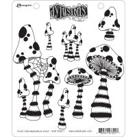 Ranger Dyan Reaveley''s Dylusions Cling Stamp - There''s Not Mushroom In Here!