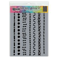 Ranger Dyan Reaveley''s Dylusions Stencil - A Stitch In Time, Lg