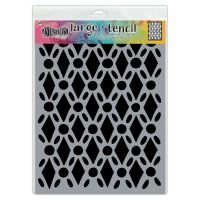 Ranger Dyan Reaveley''s Dylusions Stencil - Fancy Floor, Lg