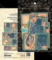 Graphic 45 Midnight Masquerade Ephemera Cards