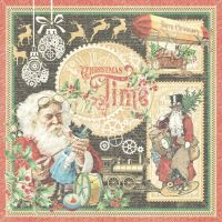 Graphic 45 Christmas Time coordinating Card Stock selected by FotoBella (12 sheets)