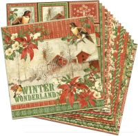 Graphic 45 Winter Wonderland 12x12 Paper Pack (16 sheets)