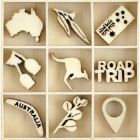 KaiserCraft Wooden Flourish Pack - Australiana