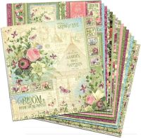 Graphic 45 Bloom 12x12 Paper Pack (16 sheets)