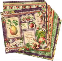 Graphic 45 Fruit & Flora 12x12 Paper Pack (16 sheets)