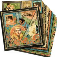 Graphic 45 Vintage Hollywood 12x12 Paper Pack (16 sheets)