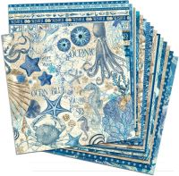 Graphic 45 Ocean Blue 12x12 Paper Pack (16 sheets)