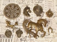 Vintage Charms hand selected by FotoBella for Graphic 45 Off to the Races