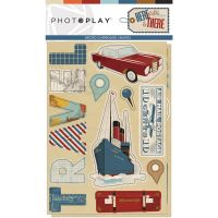 PhotoPlay Here & There Chipboard