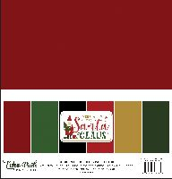 Echo Park Paper Here Comes Santa Claus Solids Kit