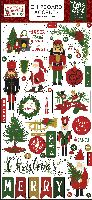 Echo Park Paper Here Comes Santa Claus 6x13 Chipboard Accents