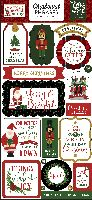 Echo Park Paper Here Comes Santa Claus 6x13 Chipboard Phrases