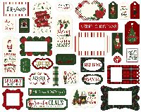 Echo Park Paper Here Comes Santa Claus Frames & Tags