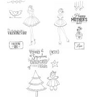 Prima Marketing Julie Nutting Bundle Release 4 4x6 Card Kit Stamps (3 Stamp Kits)
