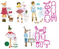 Prima Marketing Julie Nutting Bundle Summer 2018 Release NEW Mixed Media Doll Stamps (5 stamps sets and 2 die sets)