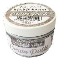 Stamperia Cream Paste metallic 150 ml. Silver