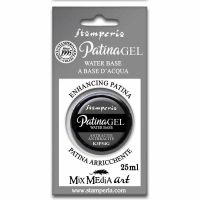 Stamperia Patina Gel in blister 25 ml. Anthracite