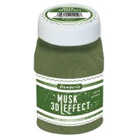 Stamperia 3D Musk (Moss) effect 100 ml. Dark Green