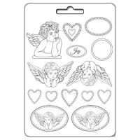 Stamperia Flexible PVC Mold - Angels & Hearts (Angeli e cuori)