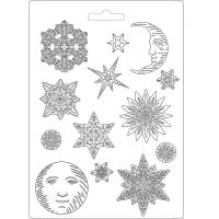 Stamperia Soft Mould A4 size Snowflakes