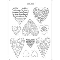 Stamperia Soft Mould A5 size Hearts