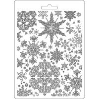 Stamperia Soft Mould A5 size Snowflakes