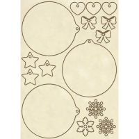 Stamperia Wooden frame A5 size Christmas spheres