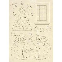Stamperia Wooden shape A5 size Trees and cats
