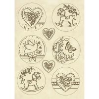 Stamperia Wooden shape A5 Plaquette baby