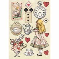 Stamperia Colored Wooden shape A5 - Alice