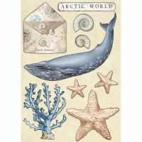 Stamperia Colored Wooden shape A5 - Arctic world