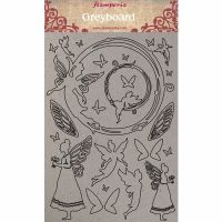 Stamperia A4 Greyboard /1 mm Fairies