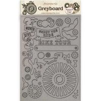 Stamperia A4 Greyboard /2 mm - Bicycle