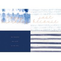 KaiserCraft Kaiser Style - Card and Envelope set - 8 pk - INDIGO