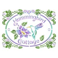 Stamperia Stencil D  cm. 20x15 Hummingbird Cottage