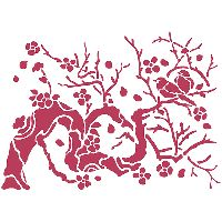 Stamperia Stencil D cm. 20x15 Bird on branch