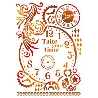Stamperia Stencil G cm. 21x29,7 Take your time