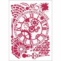 Stamperia Stencil G cm. 21x29,7 Time machine