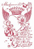 Stamperia Stencil G cm. 21x29,7 Royal heart