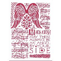 Stamperia Stencil D cm. 21x29,7 Music and wings