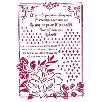 Stamperia Stencil G 21x29,7 cm - Romantic Journal flower with frame