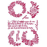 Stamperia Stencil G 21x29,7 cm - Romantic Journal garlands love