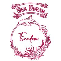 Stamperia Stencil G 21x29,7 cm - Romantic Sea Dream freedom