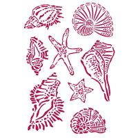 Stamperia Stencil G 21x29,7 cm - Romantic Sea Dream shells