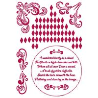 Stamperia Stencil G 21x29,7 cm - Romantic Threads corners