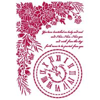 Stamperia Stencil G 21x29,7 cm - Romantic Journal clock