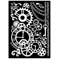 Stamperia Thick Stencil cm. 20x25/0.5 mm Steampunk mechanism